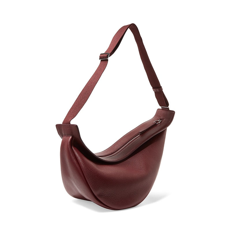 Single Strap Leather Chest Bag
