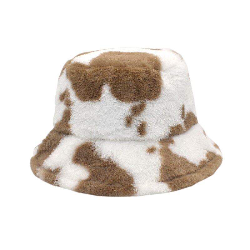 Brown Cow Printed Hat