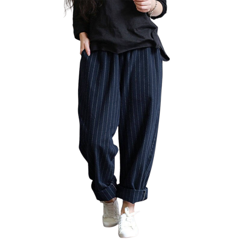 Oversized Striped Pants