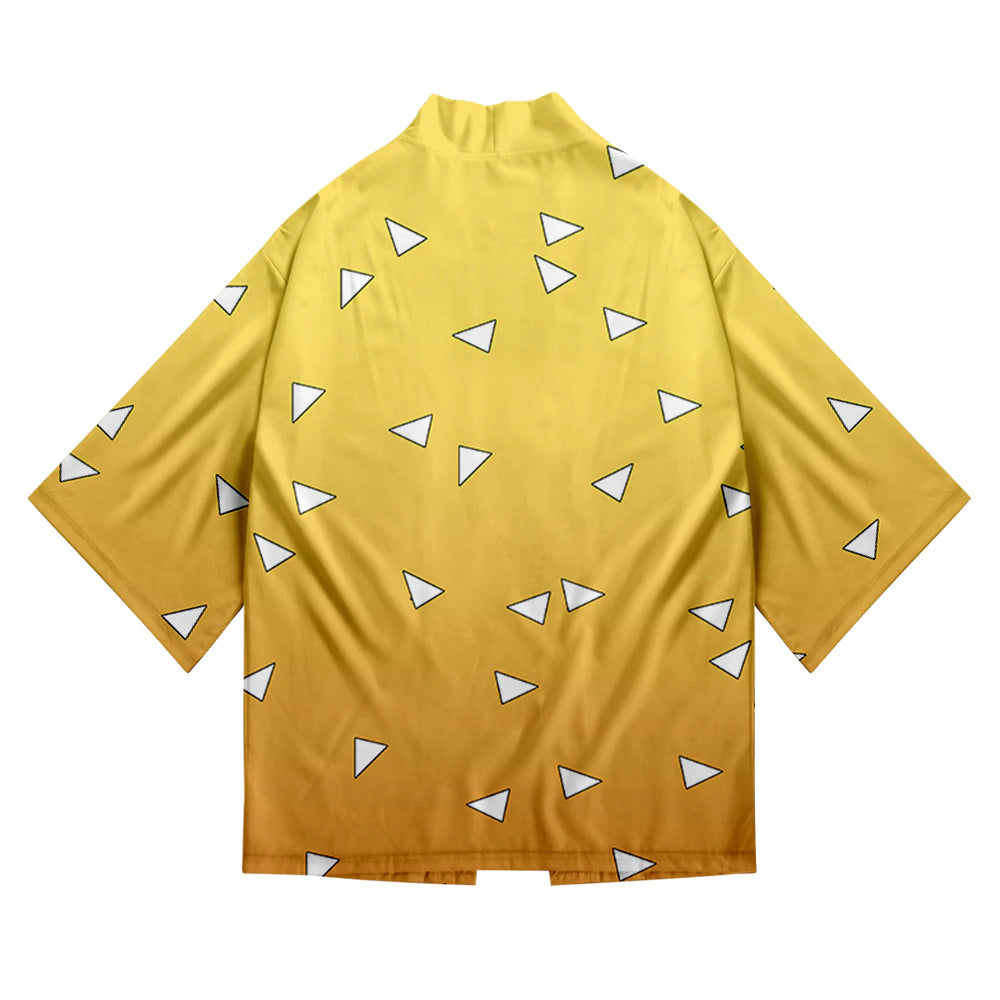 White Triangle Detailed Kimono