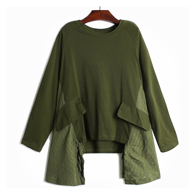 Oversize Irregular Cut Long Sleeve Shirt