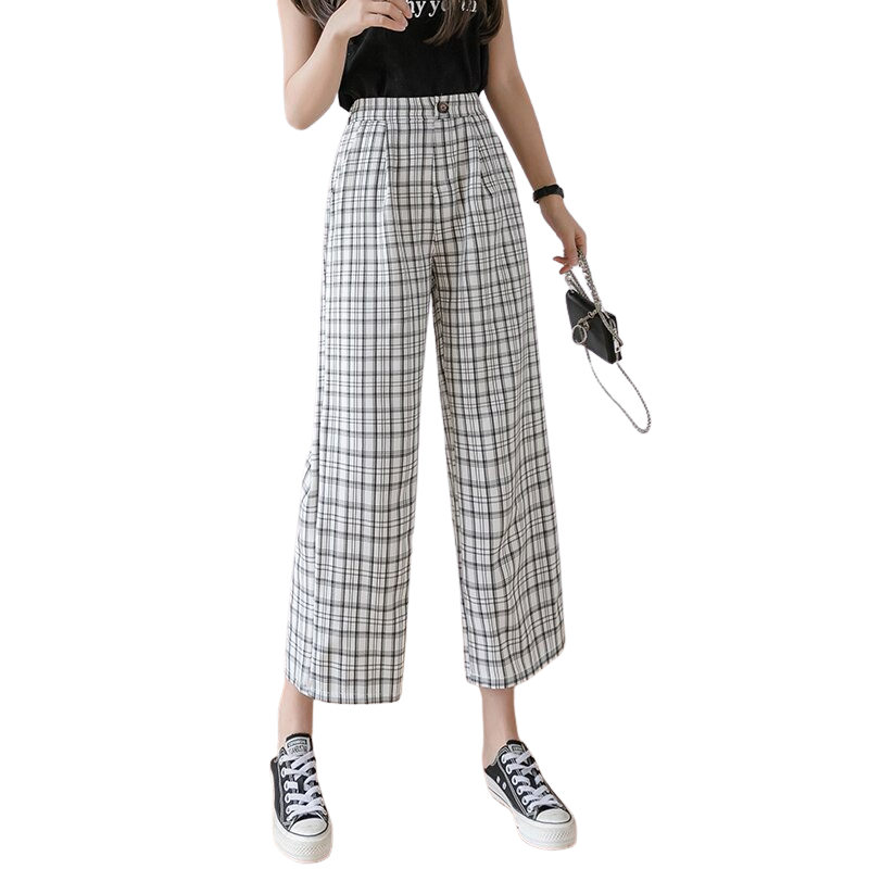 Vintage Style Checkered Pants