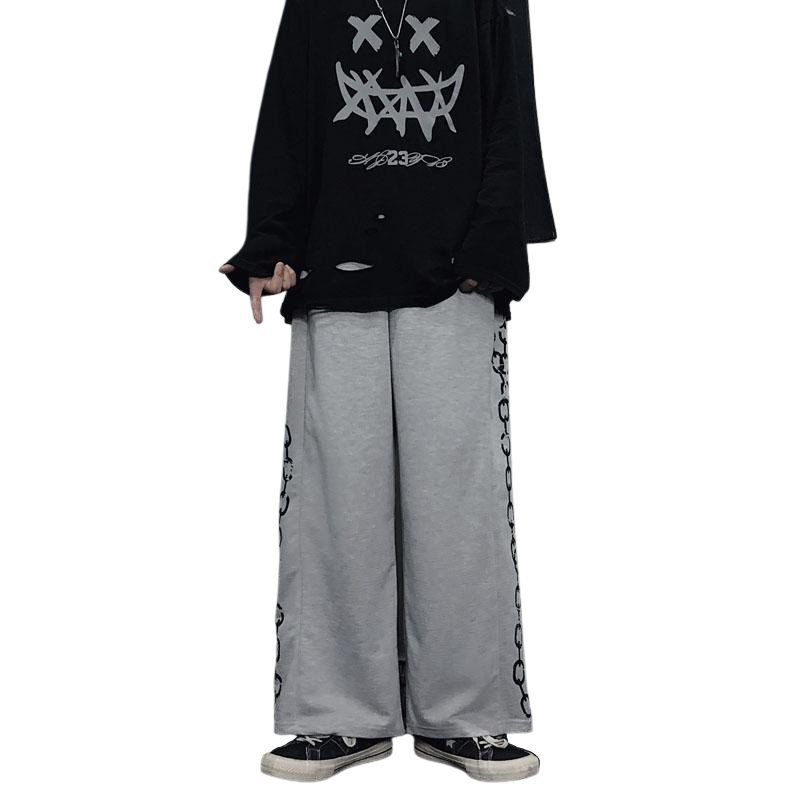 Hip Hop Wide Leg Pants