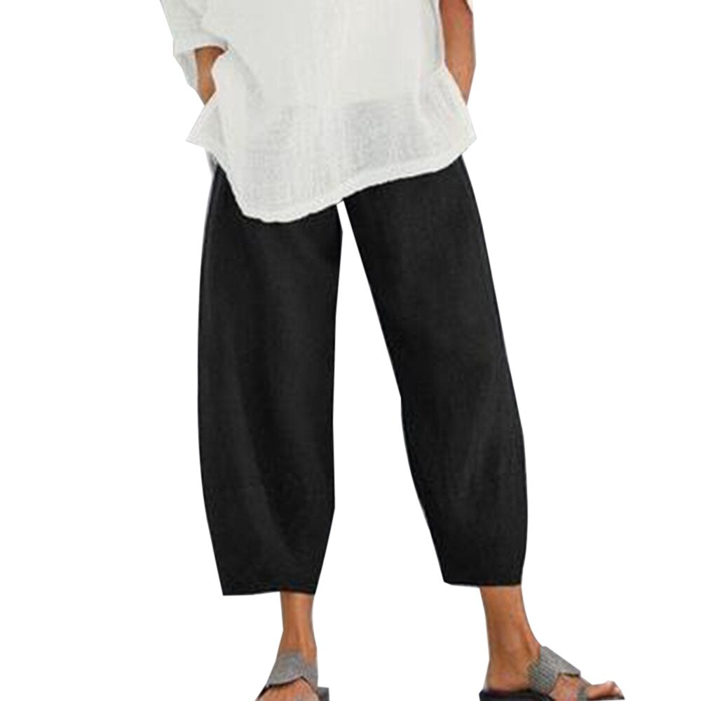 Wide Leg Cotton Pants
