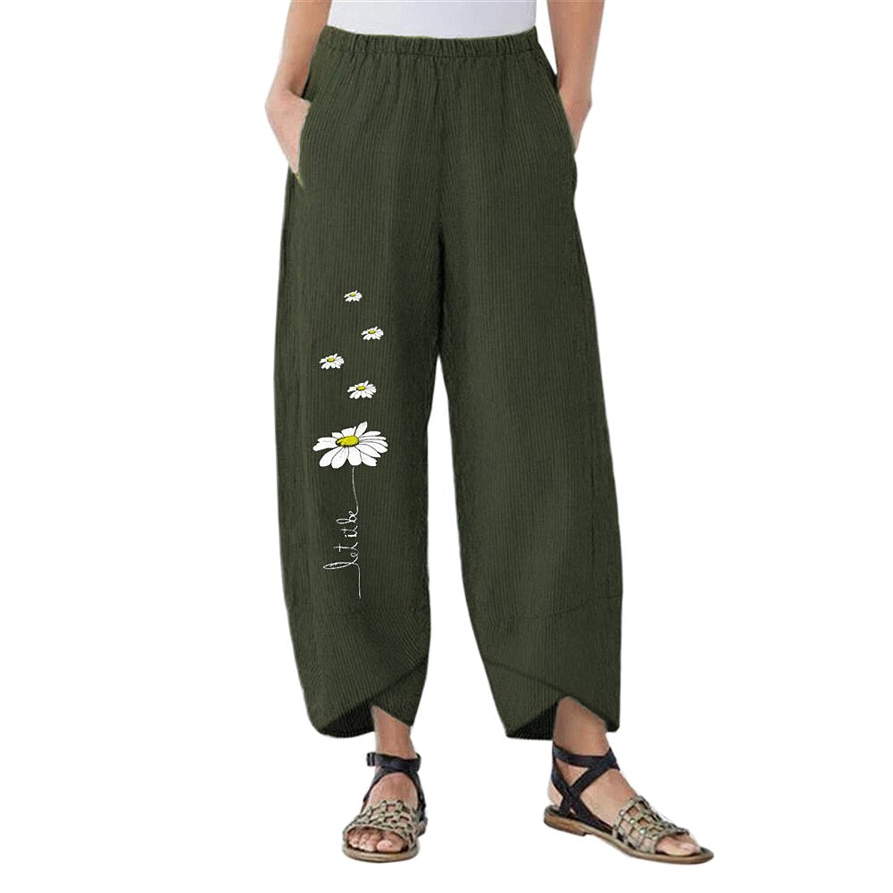 Flower Printed Leisure Pants