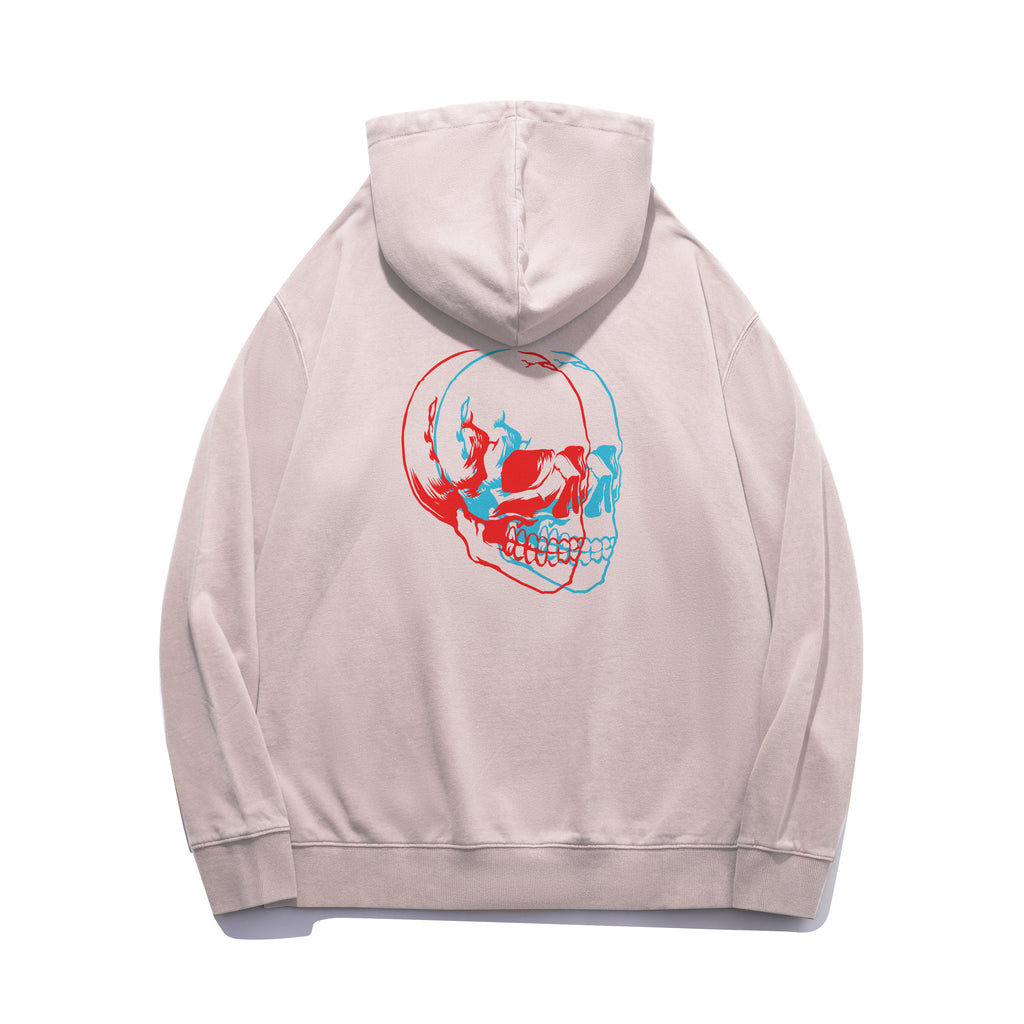 Glitched Skull Oversized Hoodie