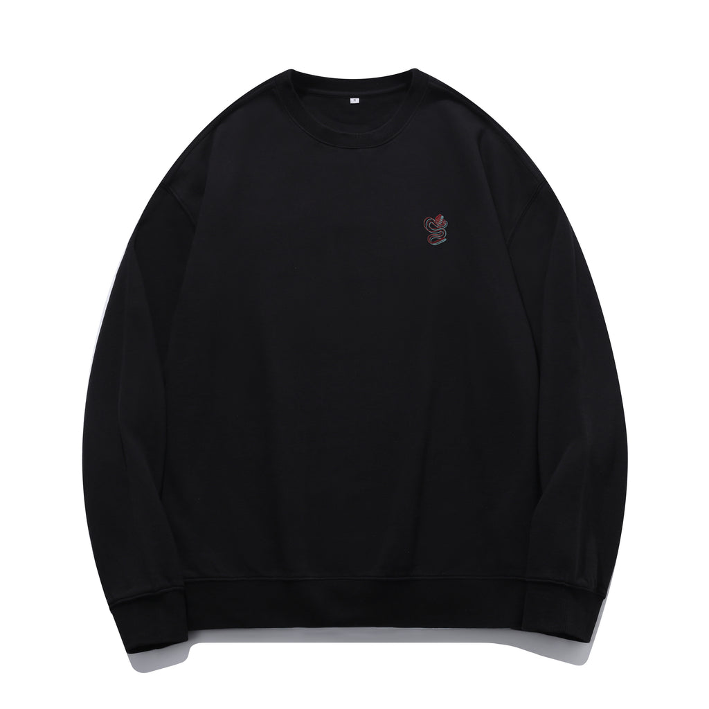 B&R Snake Embroidered Oversized Sweatshirt