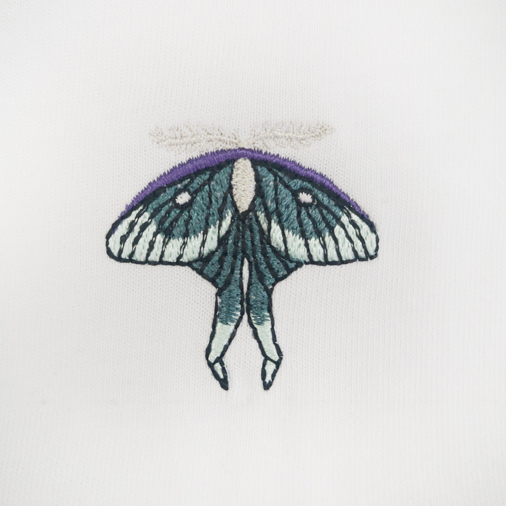 Moth Embroidered Oversized Sweatshirt