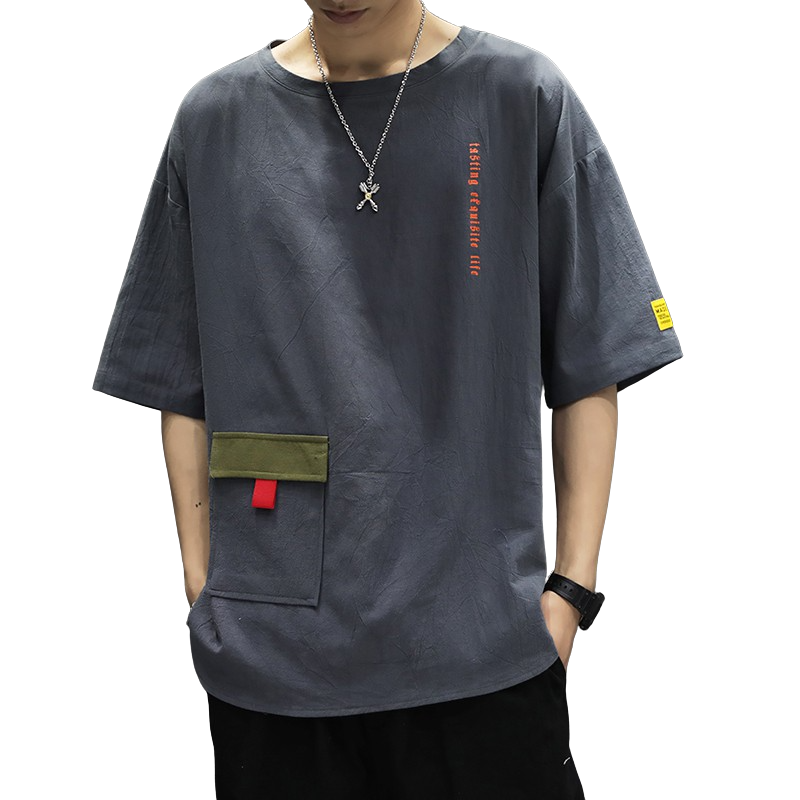 Oversized Cotton Blend T-Shirt