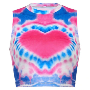 Hearth Patterned Sleeveless Top