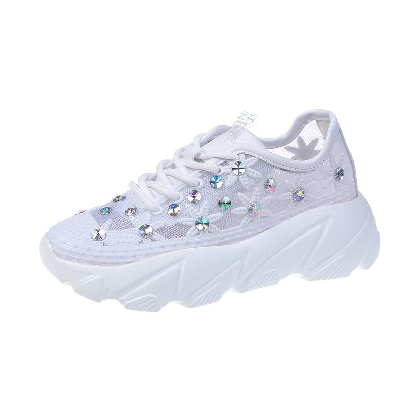 Crystal Decorated Sneakers