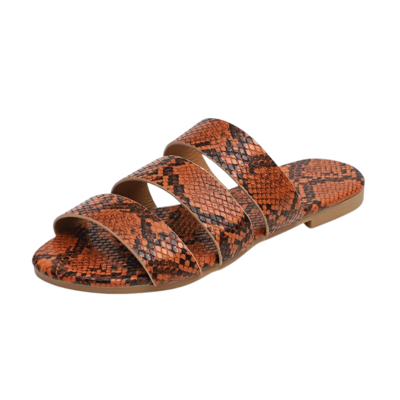 Snake Printed Slippers