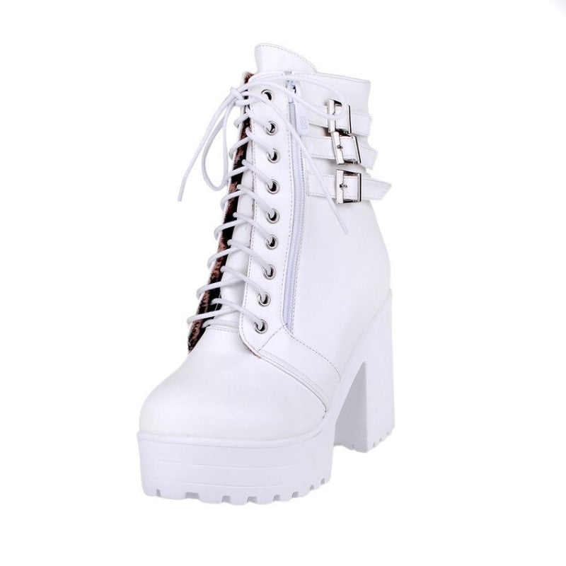 Streetwear Lace Up Ankle Boots