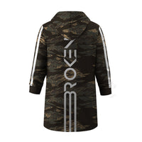Broken X Long Hooded Jacket