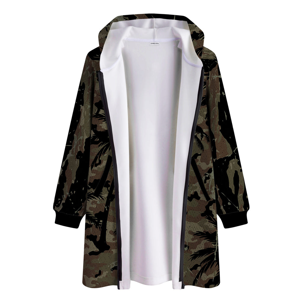 Palm Camo Long Hooded Jacket