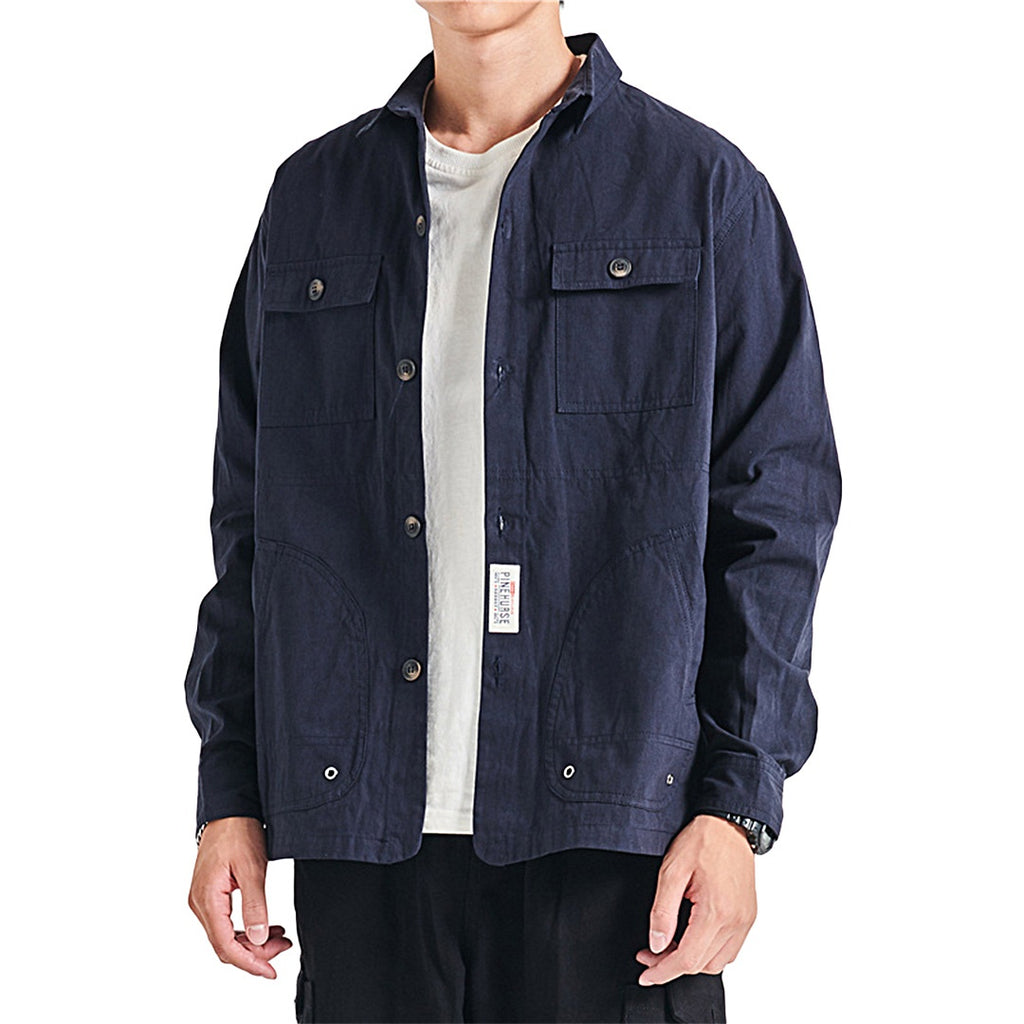 Casual Navy Shirt Jacket