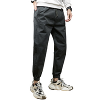 Solid Tapered Harem Joggers