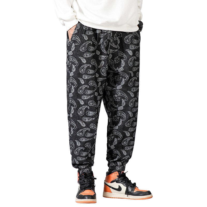 Patterned Flower Pants