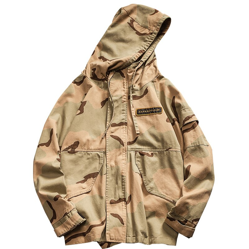 Lightweight Detailed Camo Jacket