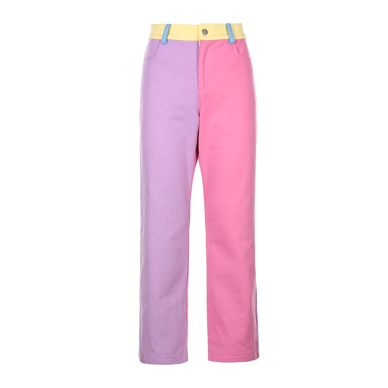 Colorful Patchwork Pants