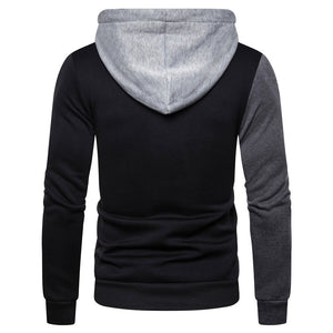 Dark Color-Blocked Hoodie