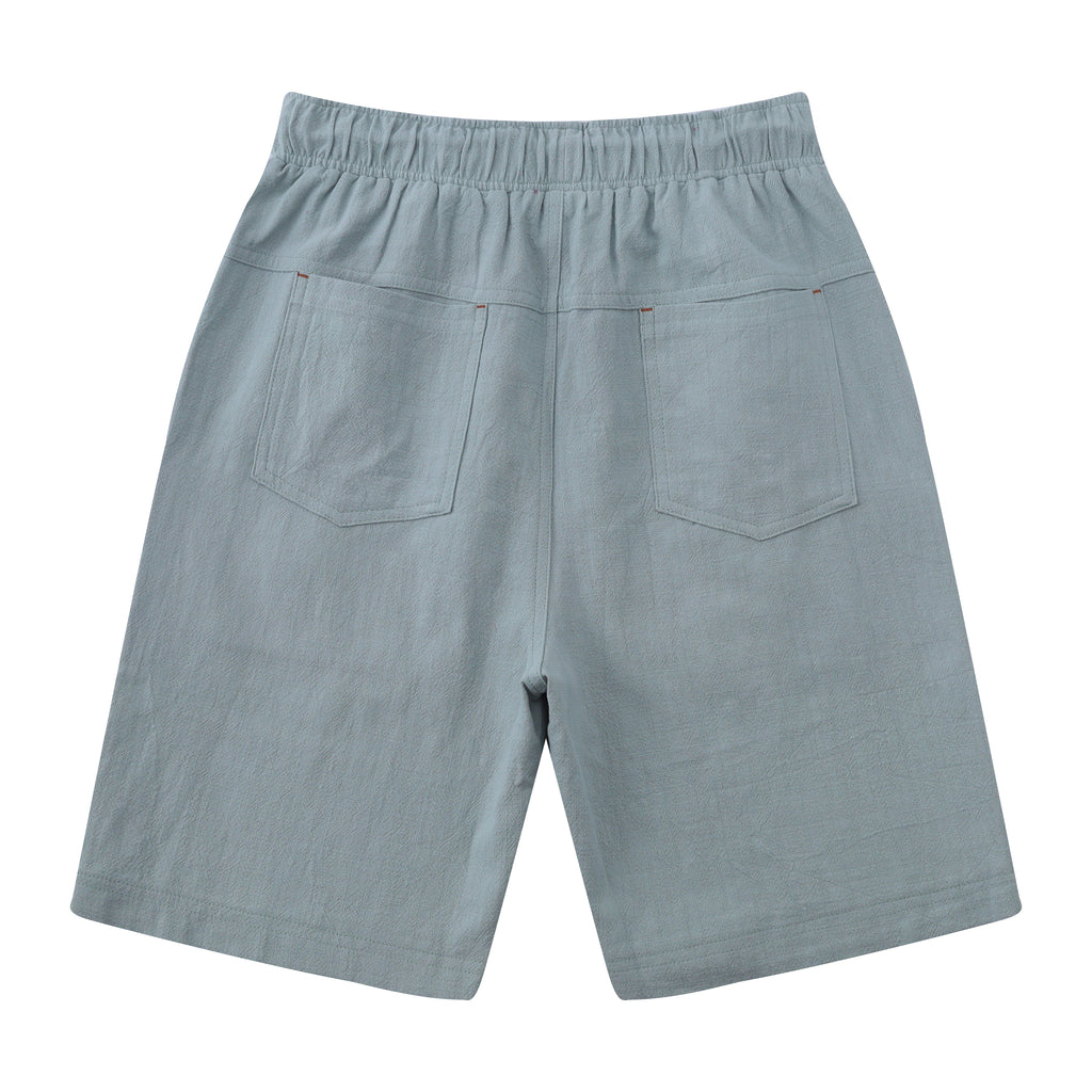 Casual Drawstring Linen Blend Shorts
