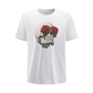 Rose Eyed Skull Oversized T-Shirt