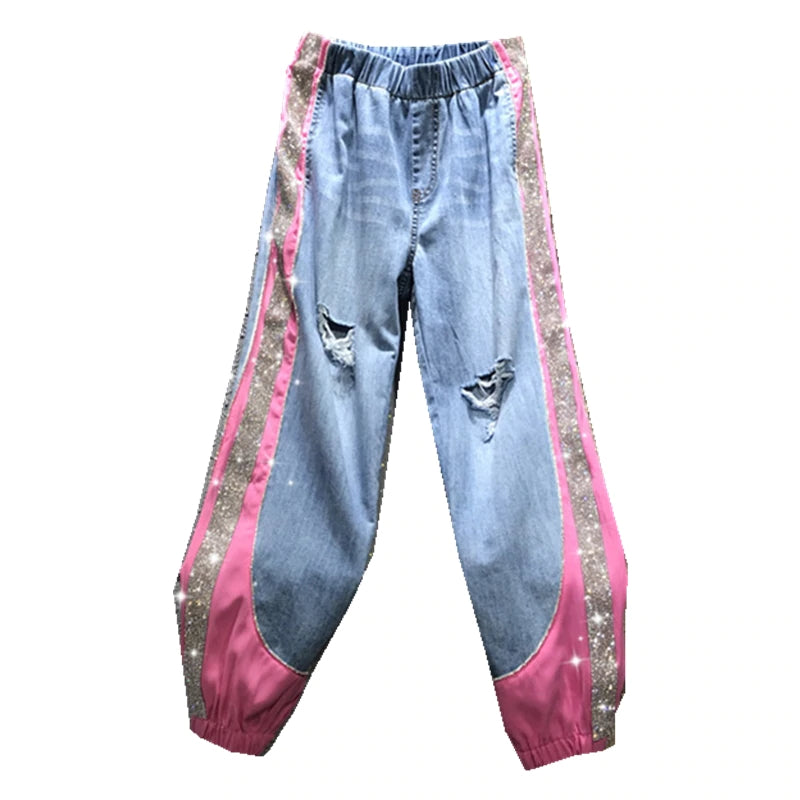 Loose Sparkling Jeans
