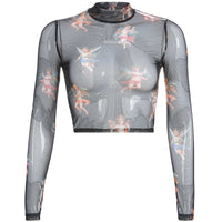Diaphanous Long Sleeve Shirt