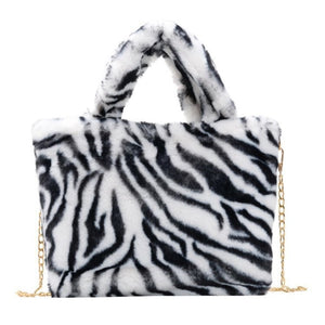 Zebra Printed Shoulder Bag