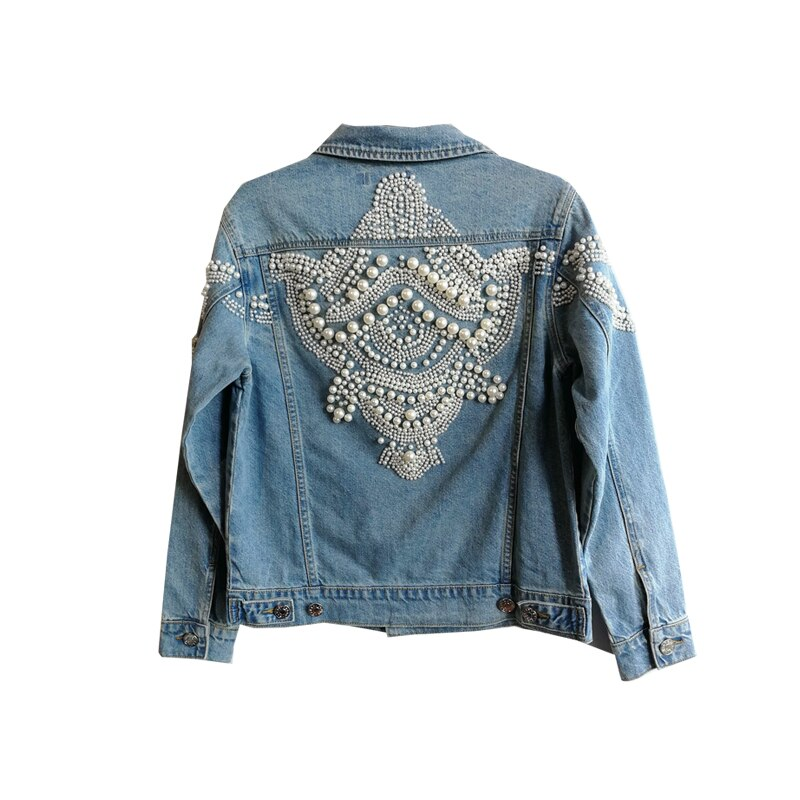 Pearls Denim Jacket