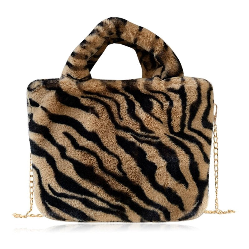 Tiger Printed Shoulder Bag