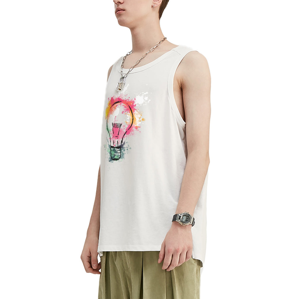 Lightning Bulb Oversized Tank Top
