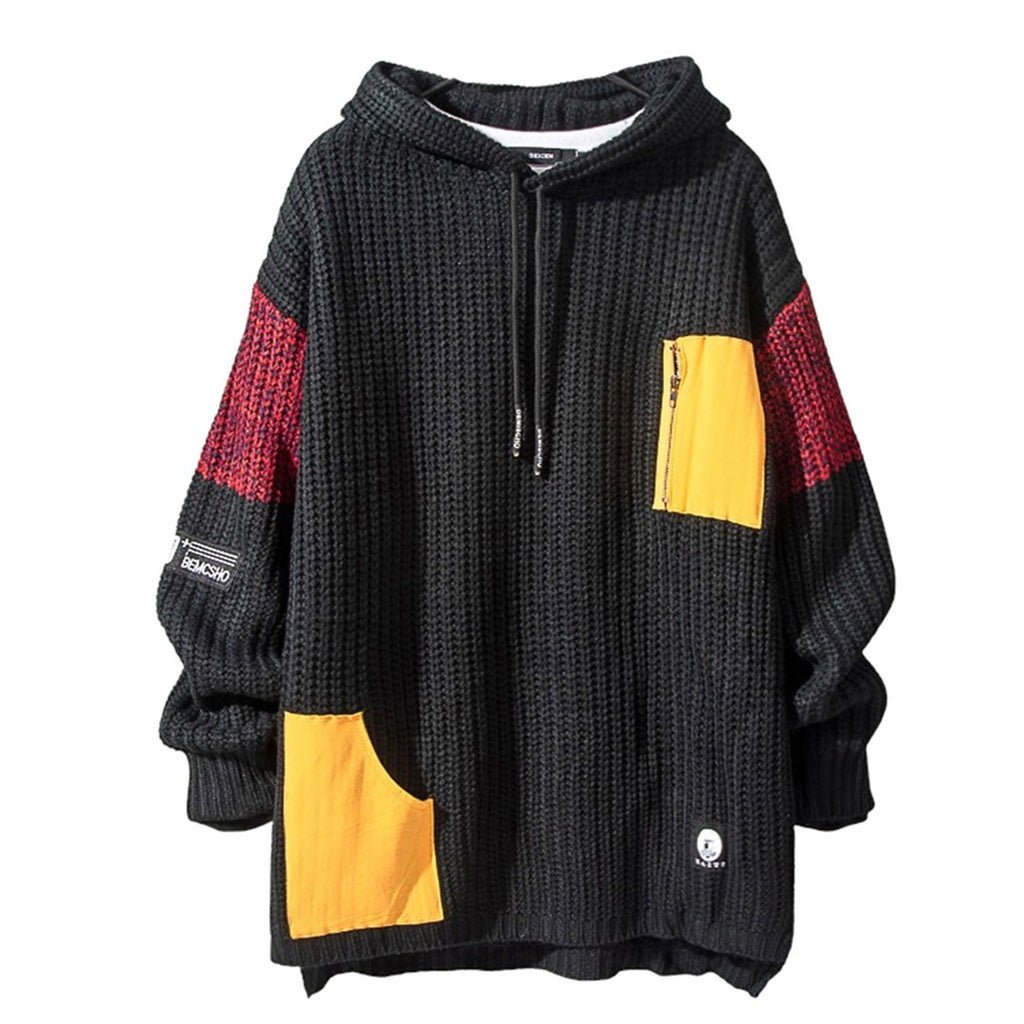 Color Stitching Hoodie