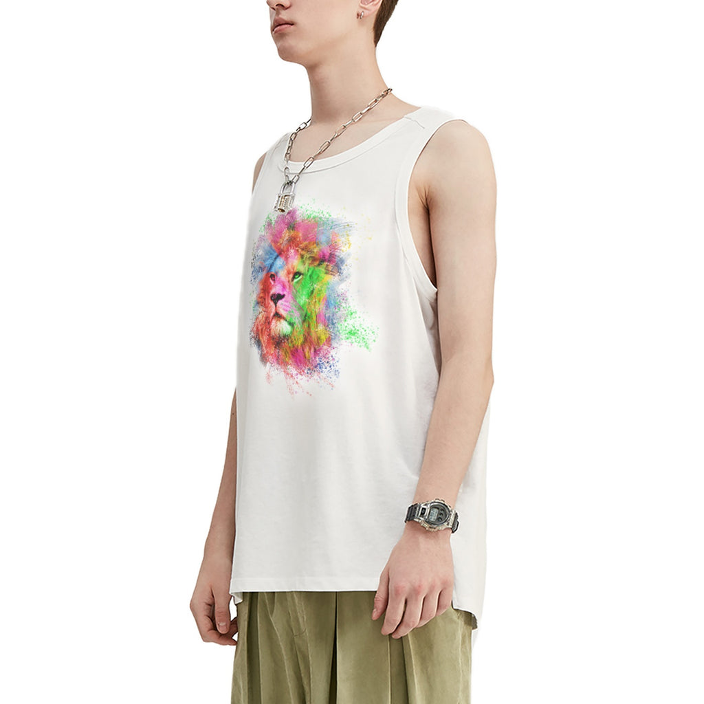 Colorful Lion Oversized Tank Top