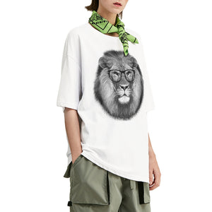 Hipster Lion Oversized T-Shirt