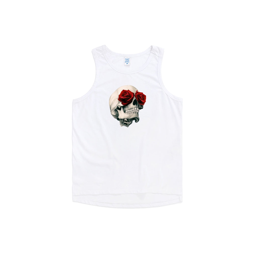 Rose Eyed Skull Oversized Tank Top