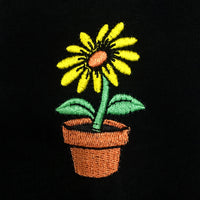 Flower Embroidered T-Shirt