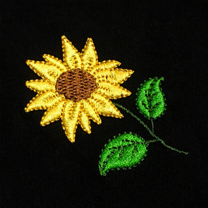 Sunflower Embroidered T-Shirt