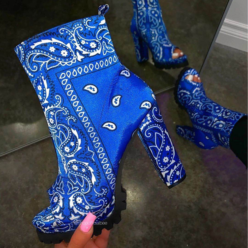 "Lady's fashion short boots with ""Fish mouth"""