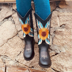 Big Sunflower Boots