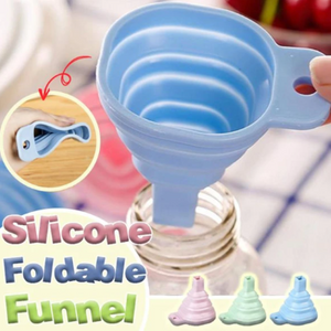 Silicone Foldable Funnel-Make liquids pouring easily