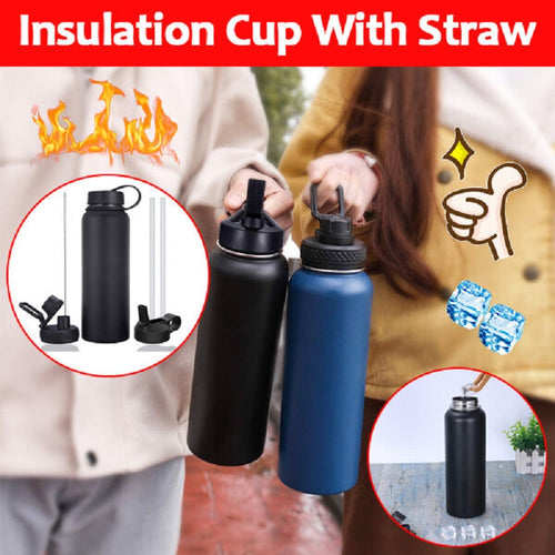 Insulation Cup With Straw - Keep Warm Up To 12 Hours, Keep Cold Up To 24 Hours👍