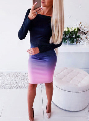 Meltina Gradient Dress-50%OFF
