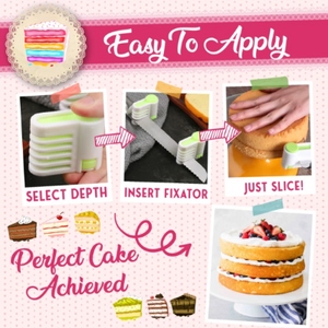Perfect Cake Slicing Fixator-Layered Cakes Made Easier