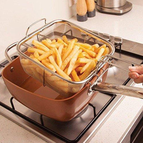 Exclusive 50% Off Only For You- 4 in 1 Multifunctional Square pot cooking & frying pan