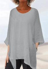 Irregular Solid Batwing T-shirts【Flash Sale】