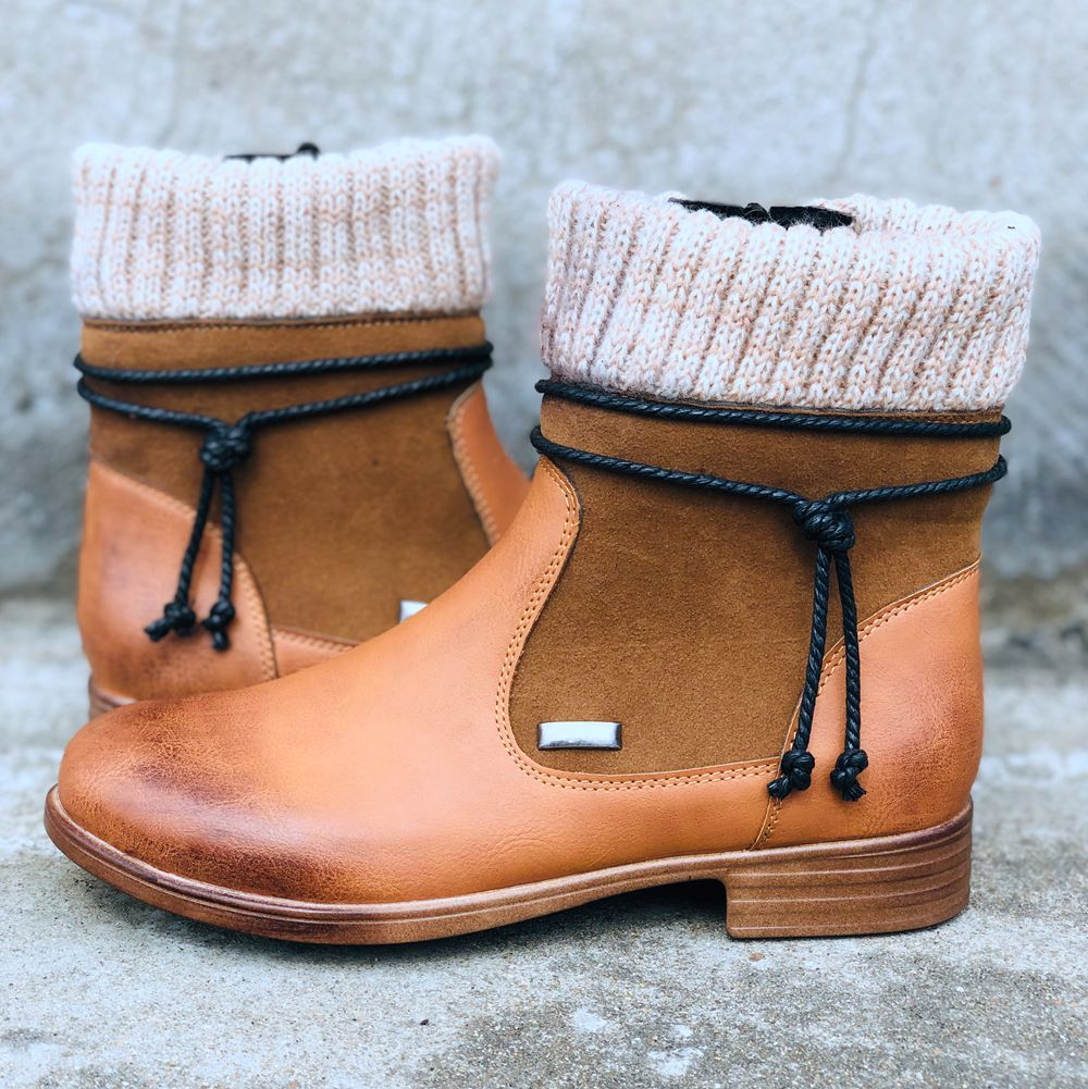 Middle boots - Woolen beef tendon
