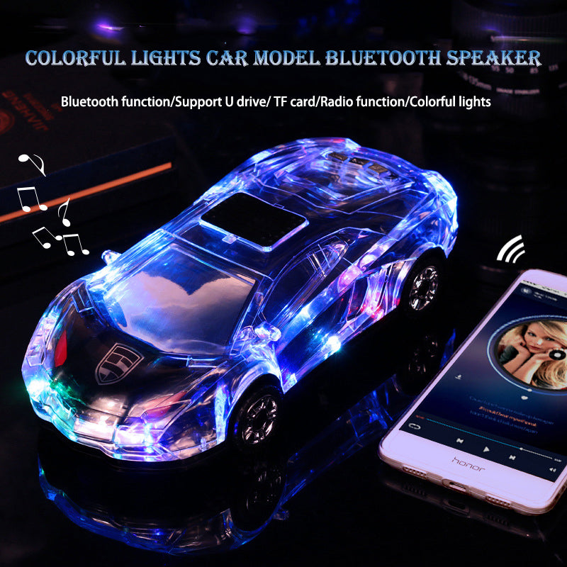 Bluetooth Flashing Car-Shape Speaker Stereo