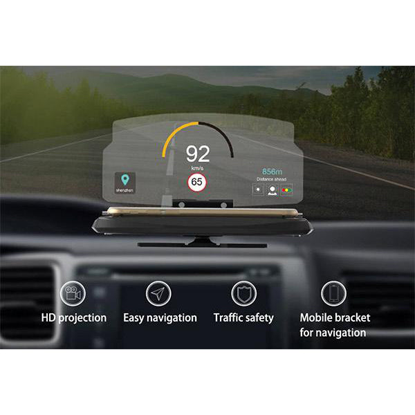 Head Up Display Phone Holder -  enjoys driving at high speed without glare